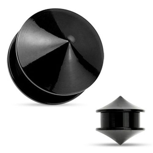 FLESH-TUNNEL-OHR-PLUG-PIERCING-ACRYL-KUPPEL-KEGEL-STEINE-5-mm-25-mm