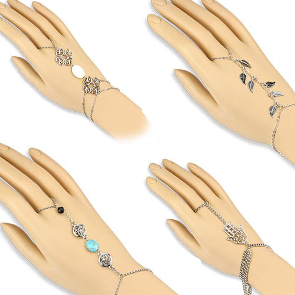 handkette hand armband mit ring finger kette sklavenarmband. Black Bedroom Furniture Sets. Home Design Ideas