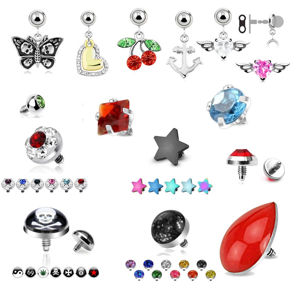 dermal anchor aufsatz zirkonia piercing kristall anchor ebay. Black Bedroom Furniture Sets. Home Design Ideas